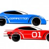 Speeding race car vector image
