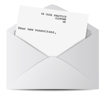 Letter to new consultant