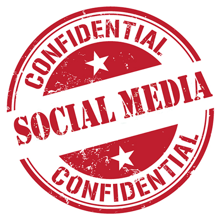 Confidential social media stamp