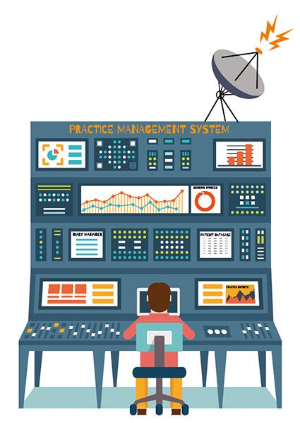 Practice management computer