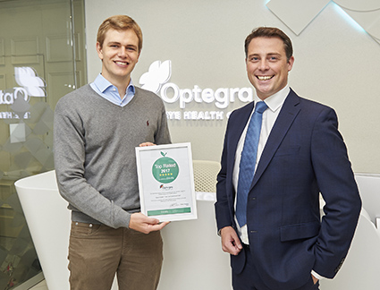 Doctify award to Optegra Alex Shortt
