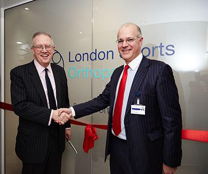 London Sports Orthopaedics opening handshake