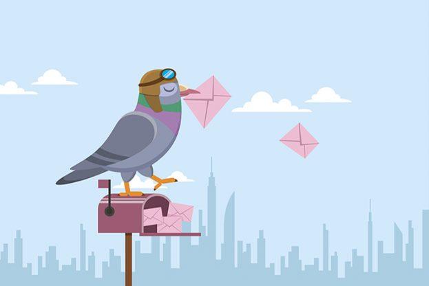 Pigeon email slider